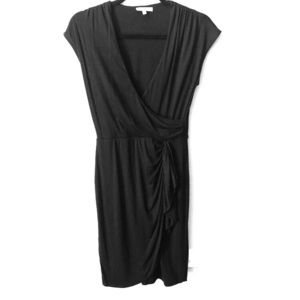 Black fitted cotton dress